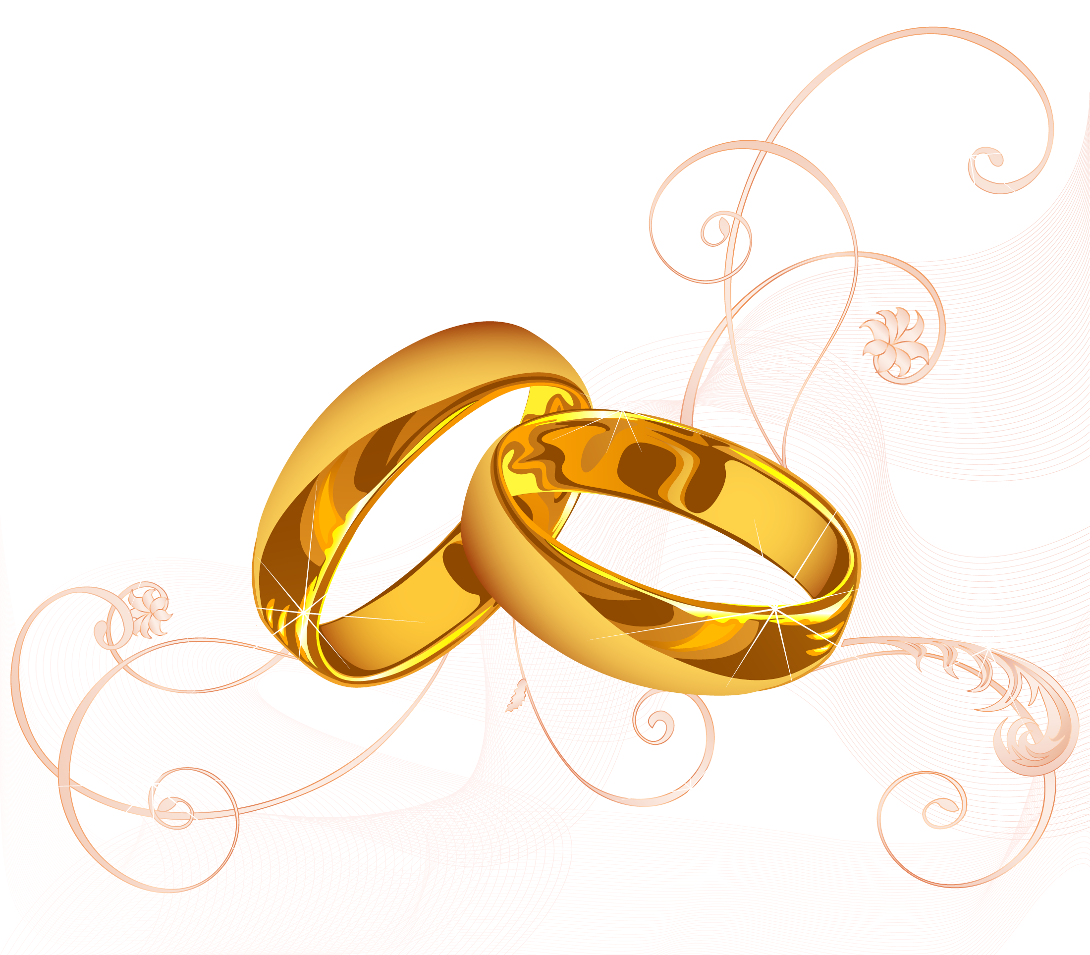 Vector rings abstract. Wedding invitation ring marriage