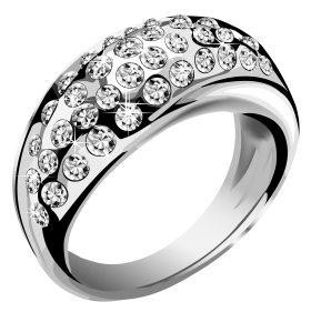 Vector rings marriage ring. Silver jewelry chemical element