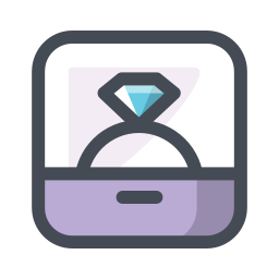 Vector rings tech. Ring image engagement icon