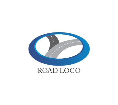Vector roads logo. Road logos