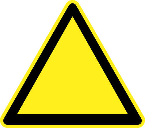 Vector roads public domain. Blank hazard warning sign