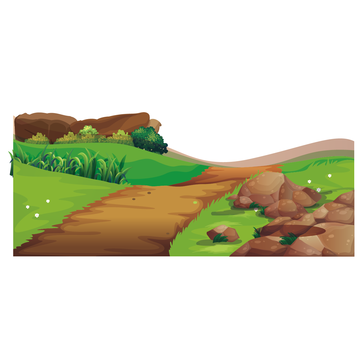 Vector roads terrain. Adobe illustrator illustration farm
