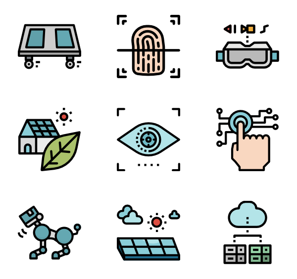 Ai vector artificial intelligence. Robot icons free