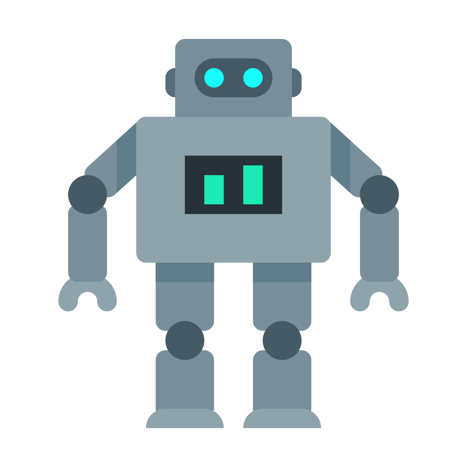 Vector robots flat. Robot icon free download