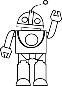 Vector robotics black and white. Collection of free bots