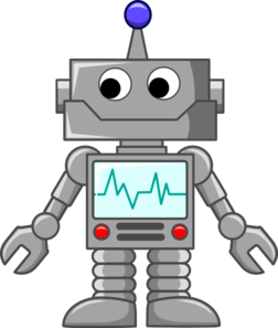 Vector robotics public domain. Robot cartoon clip art