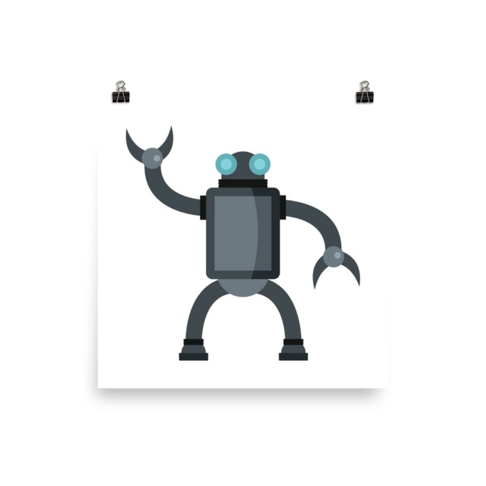 Vector robots friendly. Funny robot in flat