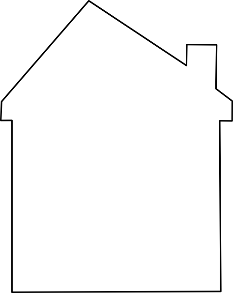 Vector roof. House abstract clip art
