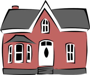 Vector roof animated. Small house clip art