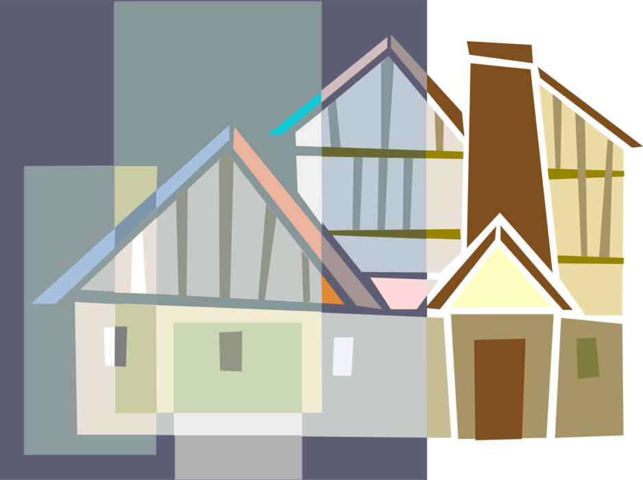 Vector roof design. House or home symbol
