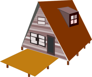 Vector roof house frame. A clip art at