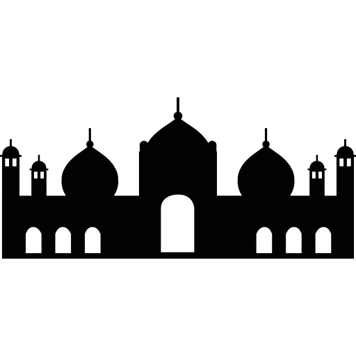 Vector roof mosque. Badshahi free monuments icons