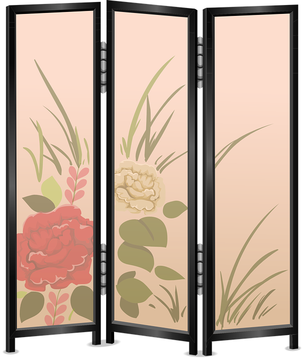 Vector room. Partition divider screen free
