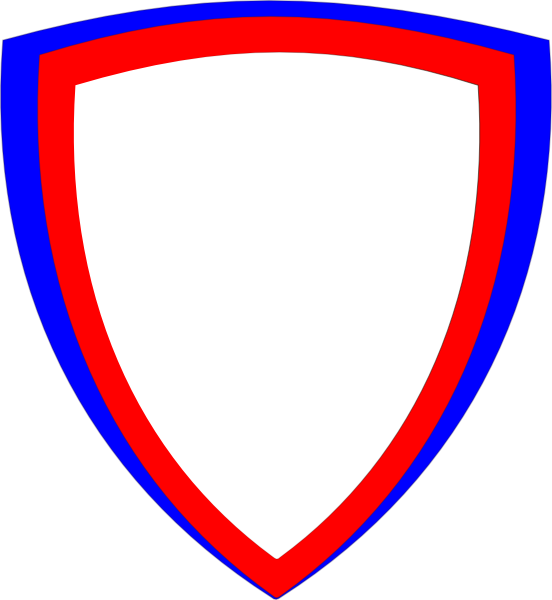 Vector s shield. Double clip art at