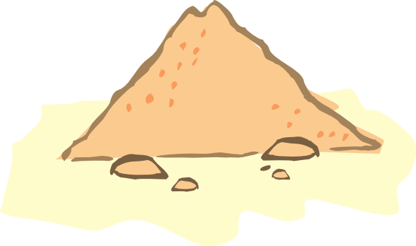 Vector sand pile. Clip art at clker