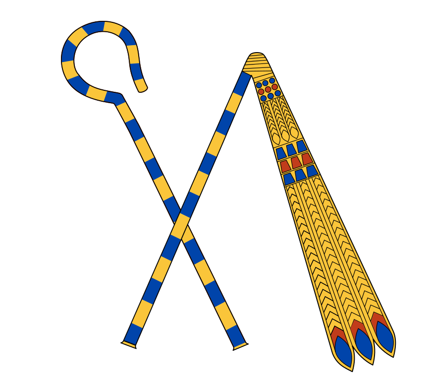 Scepter vector real. File crook and flail