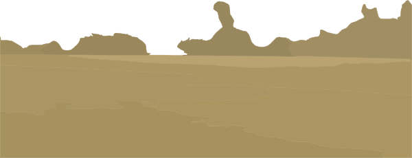 Vector sand desert. Dunes freeuse huge