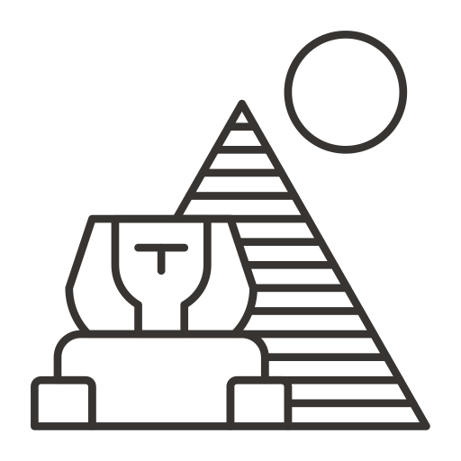 Vector sand pyramid egyptian. Icons download free lineicon