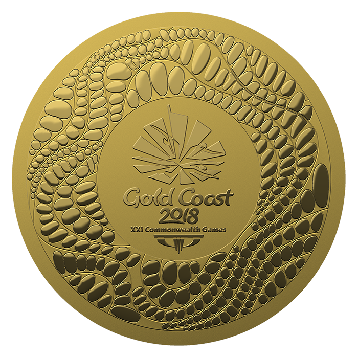 Medals drawing gold medal. Coast commonwealth games design