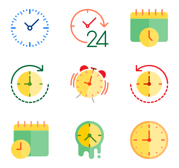 Vector sand top view. Hourglass icons free time