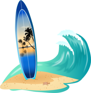 Surf clipart wave. Surfboard and clip art