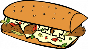 Vector sandwich. Illustration of a colorful