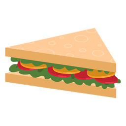 Vector sandwich triangle. Transparent png svg