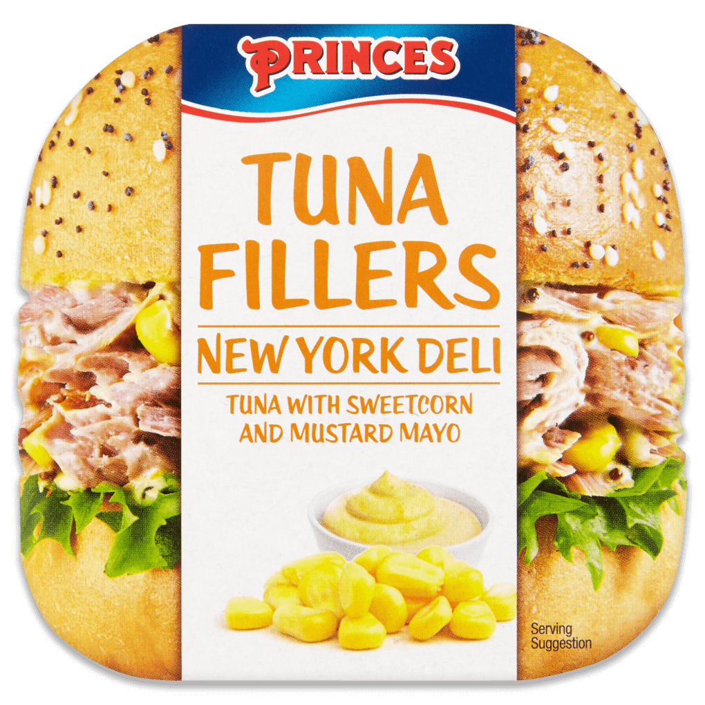Vector sandwich tuna. Princes fillers so good