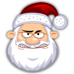 Vector santa angry. Santaclaus icon claus iconset
