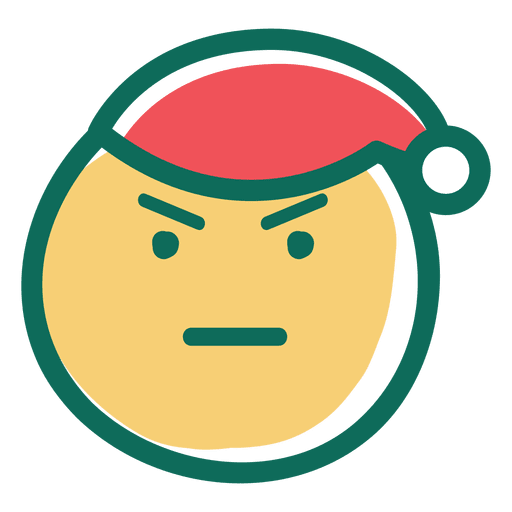 Vector santa angry. Claus face emoticon transparent