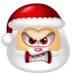 Vector santa angry. Claus icon vista raster