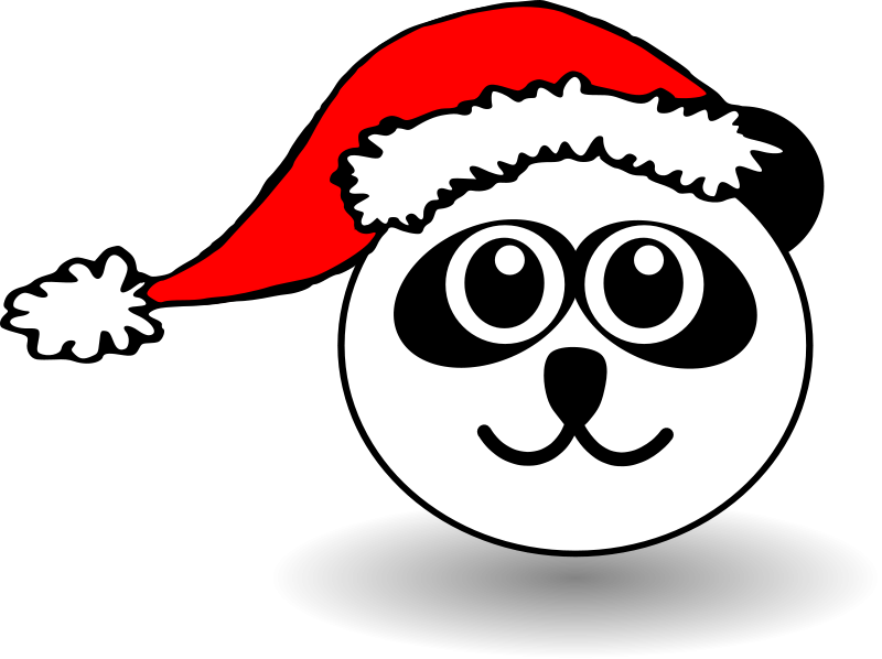 Vector santa black and white. Free claus pictures download