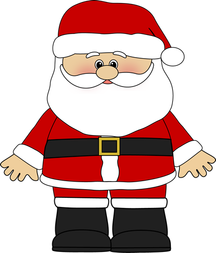 Vector santa body. Collection of claus