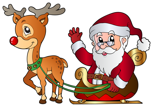 Vector santa different. And rudolph png clipart