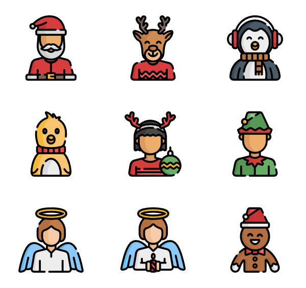 Vector santa eps. Hat icon packs