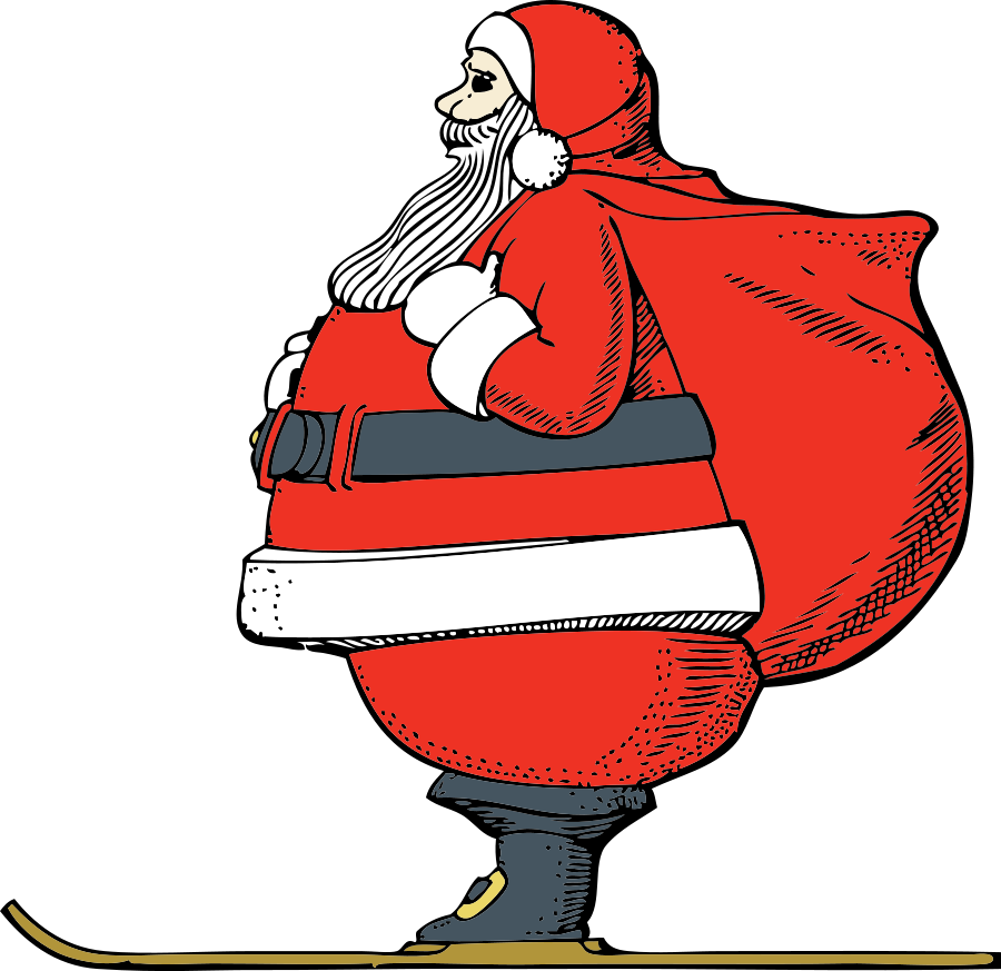 Vector santa cool. Free cartoon pictures of