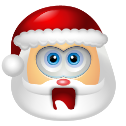 Vector santa minimal. Download claus shock icon
