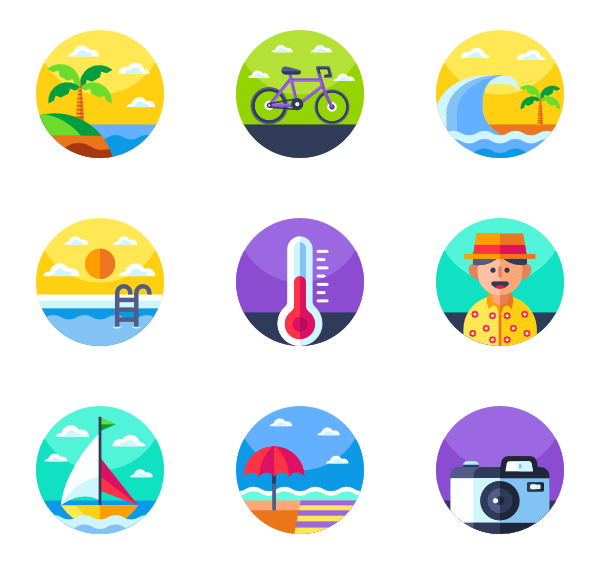 Vector santa minimal. Refresh icons free tropical