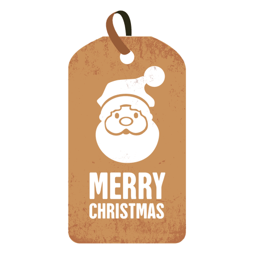 Vector santa minimalist. Face christmas tag transparent