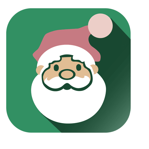 Vector santa retro. Face square icon transparent