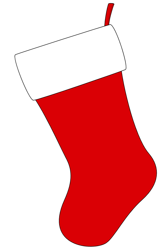 Vector santa socks. Printable christmas stocking encode