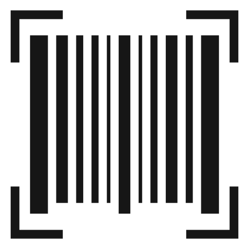 Vector scan png. Barcode icon transparent svg