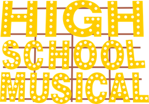 High school musical logo. Educational vector college png stock