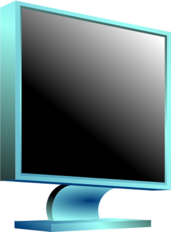 Vector screen lcd. Computer monitor led plasma