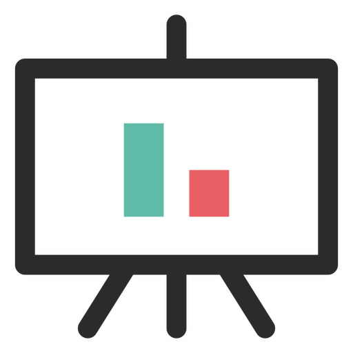 Vector screen projector. Graph icon transparent png
