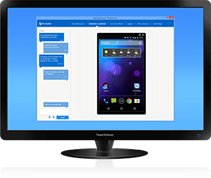 Vector screening computer mobile. Teamviewer use case device
