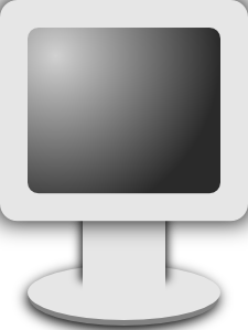 Vector screening lcd screen. Computer icon grayscale clip