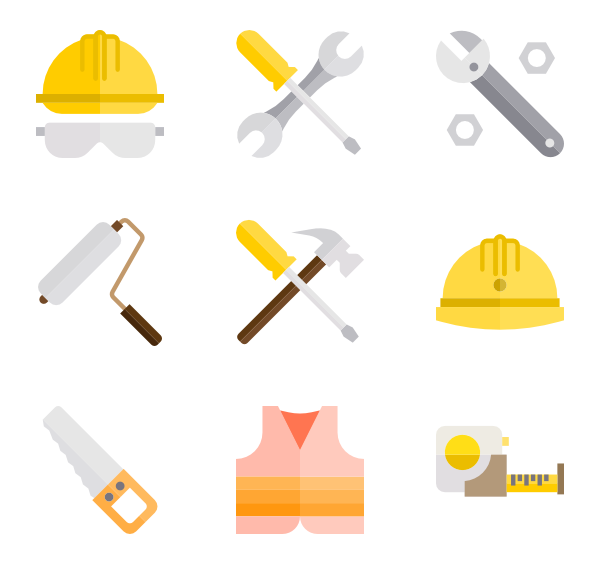Vector screw name. Screwdriver icons free construction