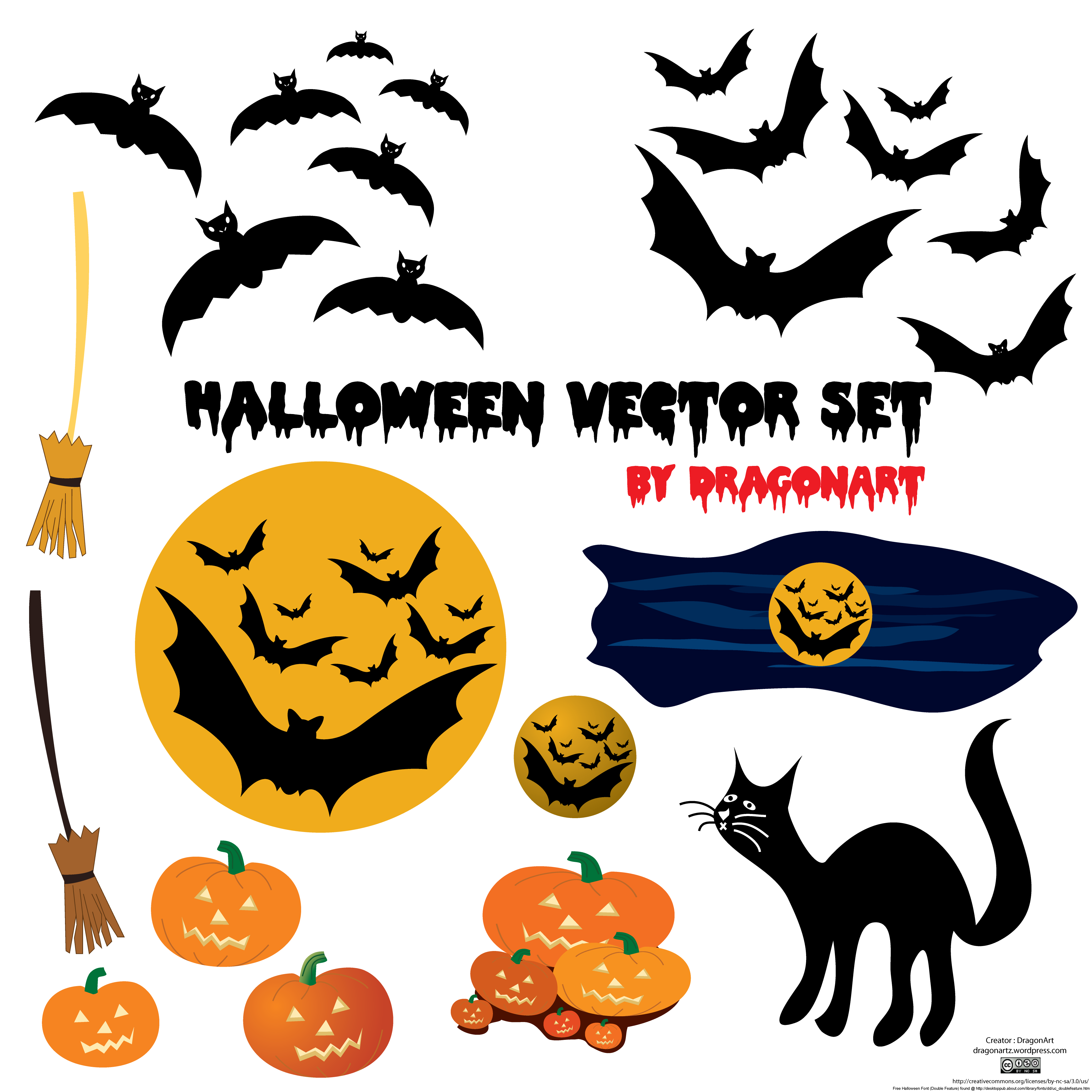 Vector set. Free halloween download clip