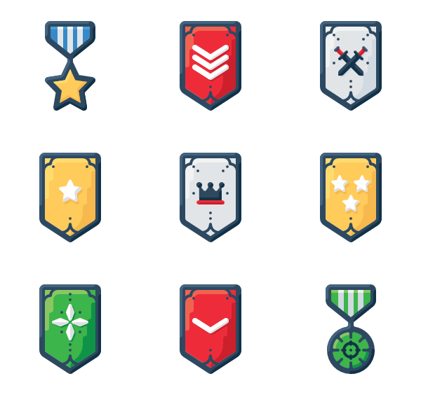 Podium clipart rank. Badge icon packs